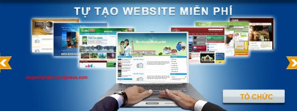Tạo website miễn phí với tên miền Tiếng Việt