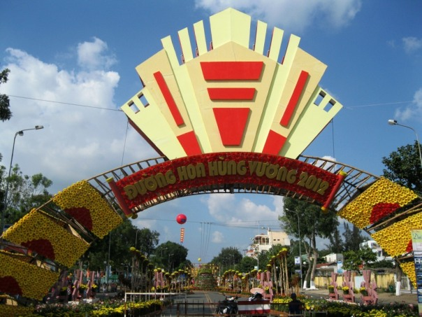 đường hoa Hùng Vương Mỹ Tho 2012